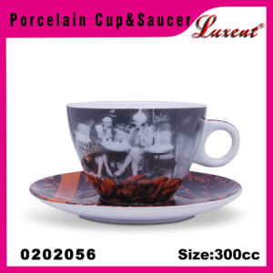 Pottery Round Shape Hotel/Restaurant/Banquet/Wedding Party Cups and Saucers pictures & photos