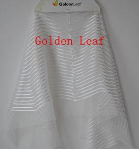 Satin Tape Embroidery Sun Flower Girls′ Dress (PD035)