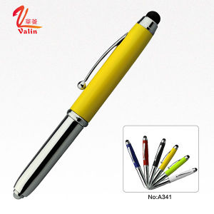 Best Writing Pen LED Light Metal Ball Pen on Sell pictures & photos