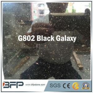 G802 Black Galaxy Shining Black Half Slab Granite pictures & photos
