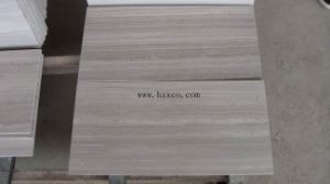 Popular Selling Polished White Wood Marble for Slabs/Flooring Tile pictures & photos