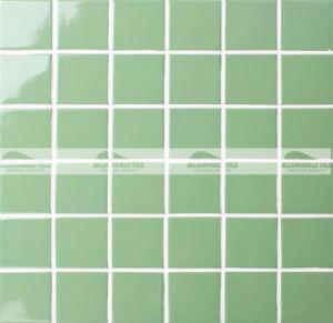 48X48mm Black Glossy Glazed Ceramic Decoration Mosaic (BCK710)