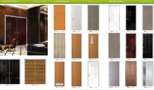 Foshan Aluminum Frame MDF Door for Home pictures & photos