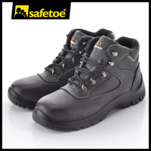 New Style Smooth Cow Leather Safety Boots Steel Toecap Safety Boots with S3 Src M-8349