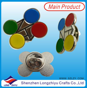 Colorful Hard Enamel Lapel Pin Flower pictures & photos