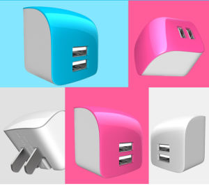Hot Sale OEM Colour Travel Double USB Charger pictures & photos