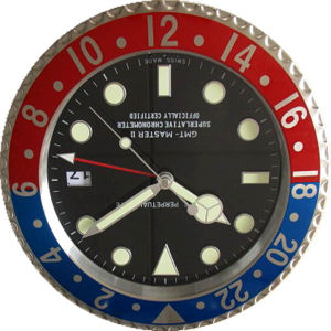 Luxury Christmas Decorations Metal Swiss Watches Shape Wall Clock (T6110-4)