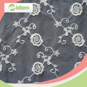 Hand Made Indian French Lace with Beaded Korean Lace Fabric pictures & photos