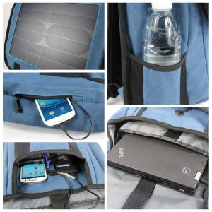 Wholesale Solar Panel Charger Bag, Durable Solar Backpack pictures & photos