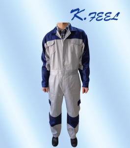High Quality Customized Grey Cotton Work Coveralls for Men