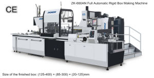 Zk-660an Lines for The Production of Rigid Set up Boxes pictures & photos