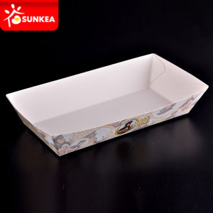 Wholesale Custom Printed Disposable Kraft Paper Food Tray pictures & photos