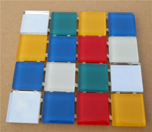 White Strip Crystal Glass Mosaic pictures & photos