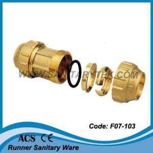 Brass Compression Fitting for PE Pipe (F07-103) pictures & photos