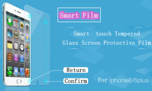 Mobile Phone Tempered Glass Screen Protective Film for iPhone 6 Plus with 2 Smart Touch Key