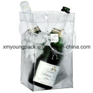 Promotional Portable Plastic PVC Wine Carrier Wine Cooler Bag pictures & photos