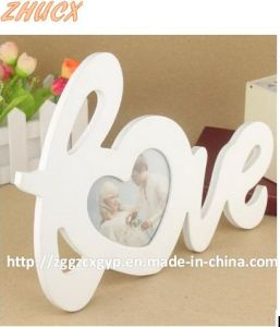 Love Shape Wooden Photo Frame/Wooden Photo Frame in Cheap Price Cx-PF013 pictures & photos