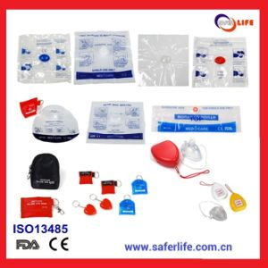 2018 Training Gift First Aid Emergency Resuscitator Responder Disposable CPR Mask CPR One Way Valve Mask Reusable CPR Mask pictures & photos