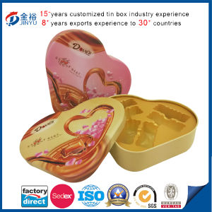 Embossing Heart Shaped Metal Food Packaging pictures & photos