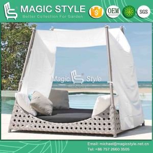 Modern Patio Daybed Outdoor Wicker Daybed Leisure Rattan Daybed (Magic Style) pictures & photos