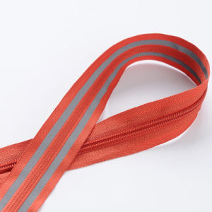 No. 3 Nylon Long Chain with Reflective Tape pictures & photos