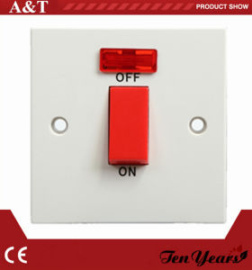 British Range Electrical 45A Cook Unit Switch with Red Button and LED
