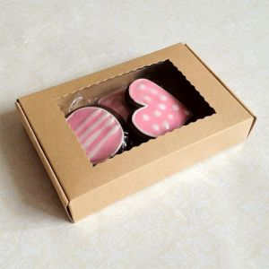 Gift Packaging Cardboard Box with Transparent Lid PVC Window pictures & photos