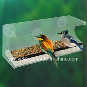 Custom Acrylic Window Bird Feeder with Water Tray pictures & photos