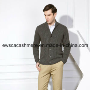Men′s Pure Cashmere Sweater with Cables pictures & photos