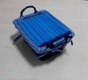 (BC-G1009) Promotional Gift Terry Towel with Storage Basket pictures & photos