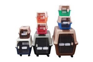 Colourful Convenient Airline Dog Cage Plastic pictures & photos