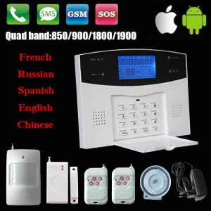 LCD 3G GSM Alarm System with 4 GSM Bands+315/433MHz+CE/RoHS Certifications pictures & photos