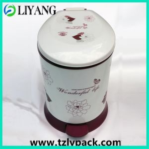 Vivid Flower, Heat Transfer Film for Plastic Pedal Garbage Cans pictures & photos