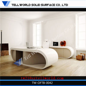 New Design Executive Boss Manager Table Counter Gloss Corian CEO Secretary Computer Office Desk Counter pictures & photos