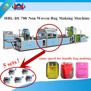 Nonwoven Fabric Loop Handle Bag Machine pictures & photos