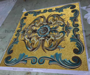 Gold Mosaic, Background Wall Tile, Pattern Mosaic (HMP649) pictures & photos