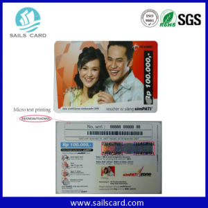 Prepaid Scratch Card with Hologram pictures & photos