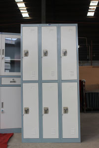 Singapore Style 3 Wide 2 Tier Colorful Metal Lockers in School pictures & photos