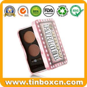 Custom Rectangular Cosmetic Tin Box for Lipstick Lip Balm Container pictures & photos