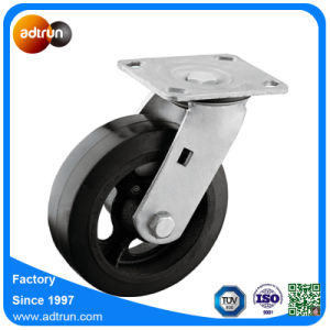 Heavy Duty Rubber on Iron Core Casters 6X2 Wheel pictures & photos