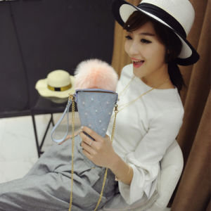 New Female Bag Big Hair Ball Ice Cream Sweet Bag Package Bag Shoulder Twist Chain Mobile Phone Bag pictures & photos