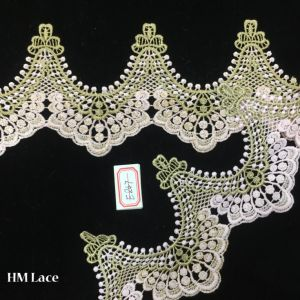 11cm Wide Gorgeous Venice Lace Trim in Sage Green with W Shape Hme847 pictures & photos