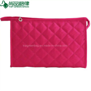 2017 Popular Custom Pink Cosmetic Bag Ladies Travel Eco Beauty Pouch pictures & photos