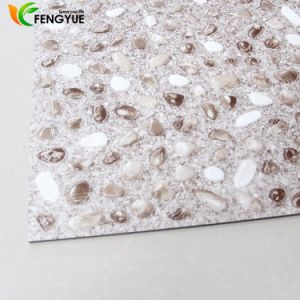 Waterproof Dry Backing Cobblestone Pattern Plastic PVC Vinyl Flooring pictures & photos