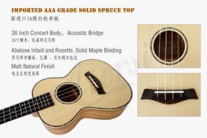 China Advanced Abalone Solid Top Hawaii Tenor Ukulele Mini Guitar pictures & photos