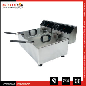 20L Double Tank Professional Electric Deep Fryer pictures & photos