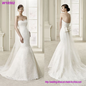 Sexy Sweetheart White Chiffon Wedding Dress Beach Wedding Dress Bridal Gown pictures & photos