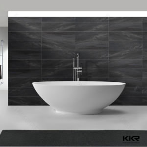 White Matte Solid Surface Round Small Freestanding Bathtub (KKR-B002) pictures & photos