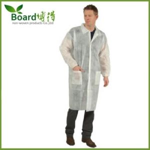 Disposable Nonwoven SMS PP Workwear/Lab Coat with Pocket pictures & photos