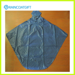 Waterproof Nylon PVC Bicycle Rain Poncho Rvc-173 pictures & photos